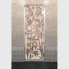 Дверь для хамама Бамбук и бабочки бронза матовое