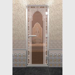 Дверь для хамама Восточная арка
