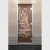Дверь для хамама Искушение бронза
