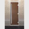 Дверь для хамама серия престиж бронза матовое