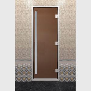Дверь для хамама престиж стекло бронза матовое