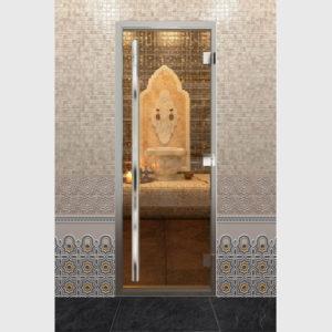 Дверь для хамама престиж, стекло прозрачное