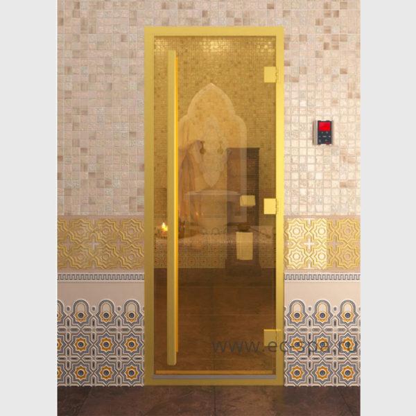 Дверь серия престиж хамам золото