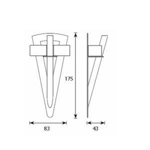 Светильник для паровой Cariitti TL-100 Факел