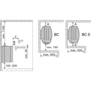 Электрическая печь HARVIA Vega BC60E Steel