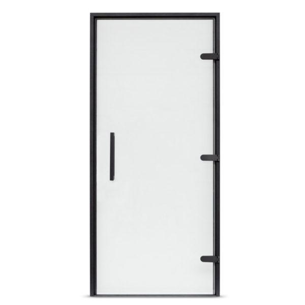 Дверь EOS для сауны 2000х700 стекло матовое, профиль антрацит
