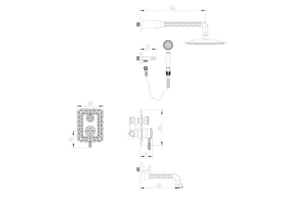 Душевая система ZORG A 104DS