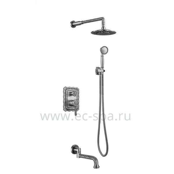 Душевая система ZORG A 104DS-SL античное серебро