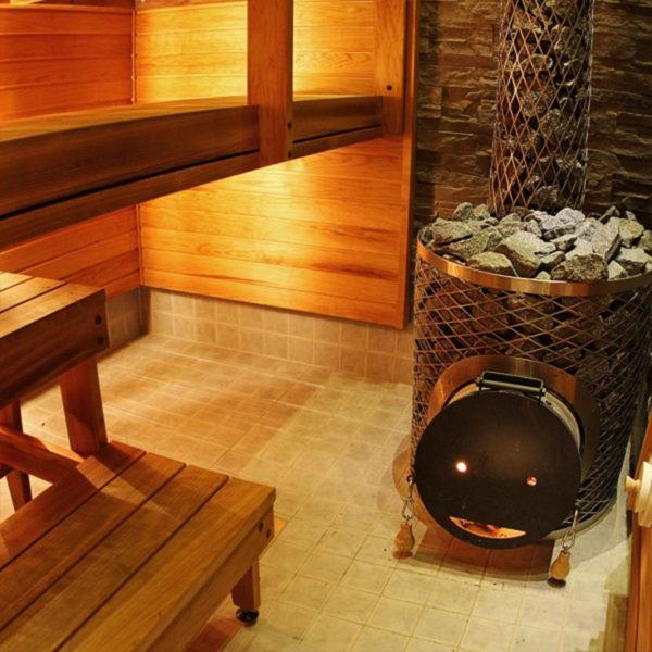 Печь для сауны Original IKI Plus со стальной дверцей смайл