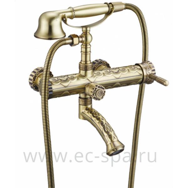 Смеситель для ванны ZORG A 100W-BR античная бронза