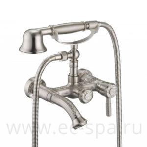 Смеситель для ванны ZORG A 7000W-SL, античное серебро