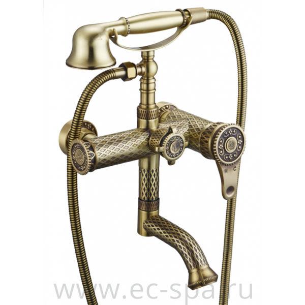 Смеситель для ванны ZORG A 400W-BR античная бронза