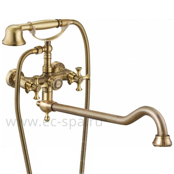 Смеситель для ванны ZORG A 7001WDN-BR античная бронза