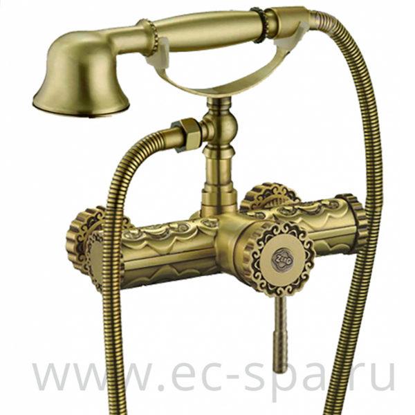 Смеситель для душа ZORG A 119DK-BR античная бронза