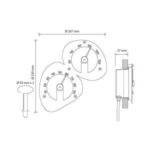 Термометр-гигрометр Cariitti