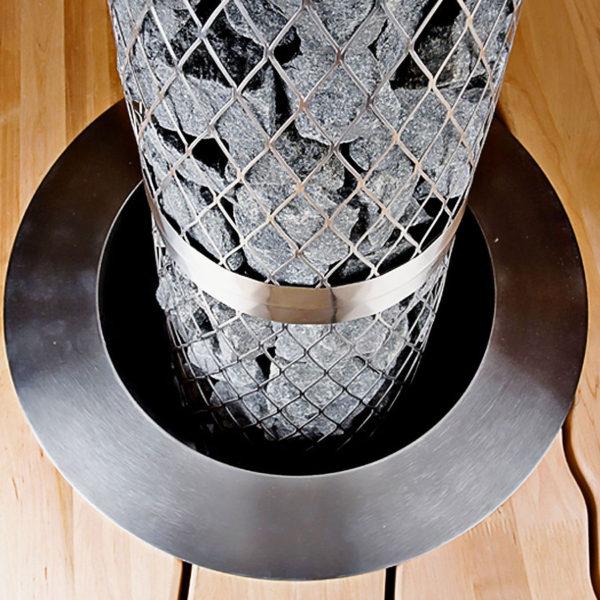 Фланец для встраивания, нержавеющая сталь в интерьере