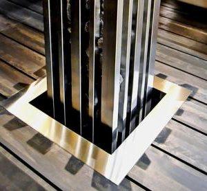 Фланец для встраивания, нержавеющая сталь, 680
