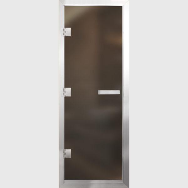 Дверь для Хамам Бронза матовое стекло