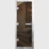 Дверь для Хамам Бронза стекло бронза прозрачное