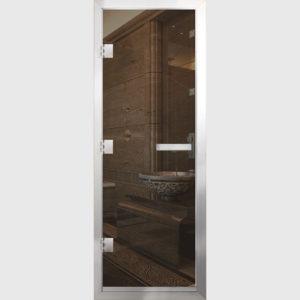 Дверь для хамама стекло бронза прозрачное