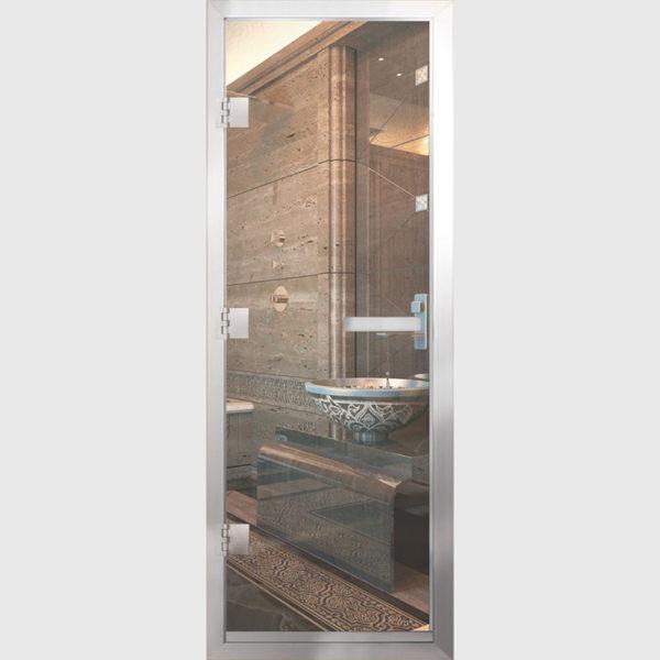 Дверь для Хамам стекло бронза прозрачное