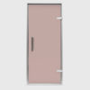 Дверь EOS для Хамама Стекло бронза Профиль серебро