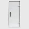 Дверь EOS для Хамама прозрачное стекло профиль серебро
