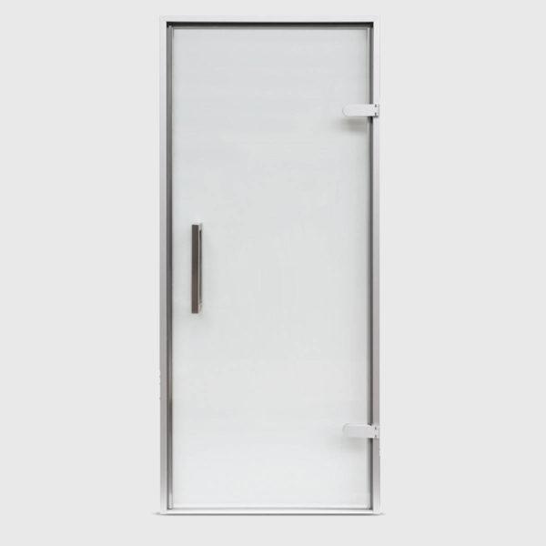 Дверь EOS для Хамама стекло матовое профиль серебро