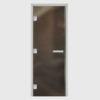 Дверь для хамама стекло бронза прозрачное без порога