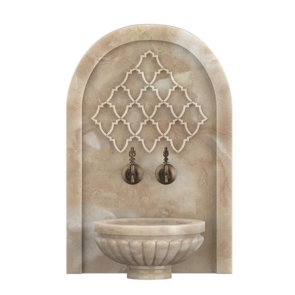 Арка мраморная АМ21 для курны в хамам