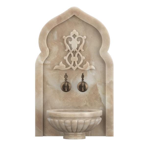 Арка мраморная АМ37 для курны в хамам