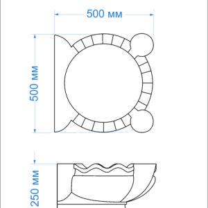 Курна мраморная КМ-43