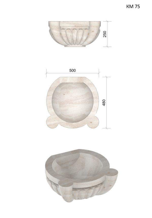 Курна мраморная КМ75