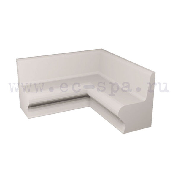 Сидение Комодо соединение под 90 градусов для хамам купить на ec-spa.ru
