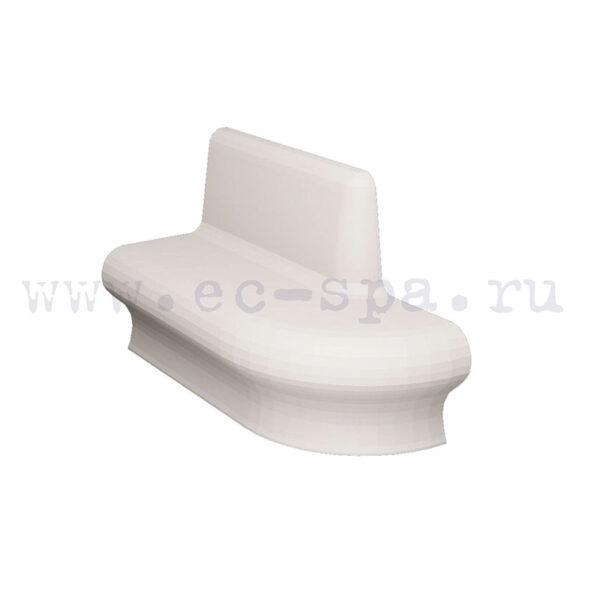 Сидение Комодо с большим закруглением спинки и сидушки для хамам купить на ec-spa.ru